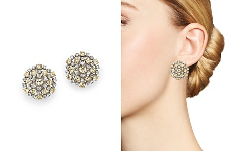 Roberto Coin 18K Yellow & White Diamond Cluster Earrings - Bloomingdale's_2